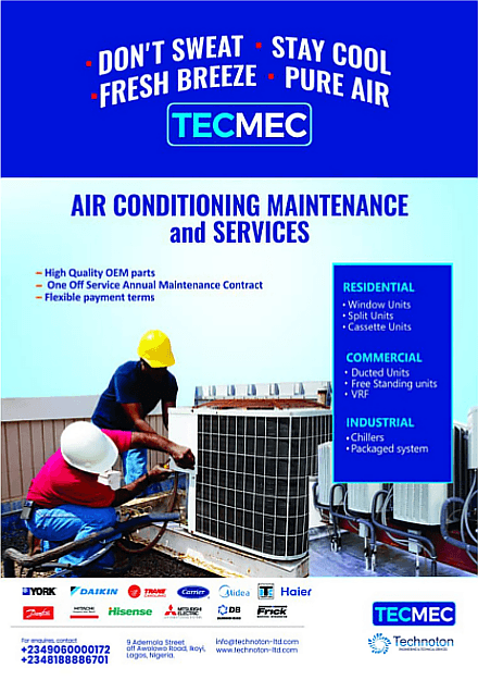 Air Conditioning Maintenance & Repair Services in Nigeria | Technoton Ltd